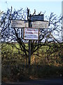 TM2570 : Roadsign on the B1118 The Thoroughfare by Adrian Cable