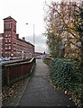 SO8376 : Footbridge over the River Stour in New Road, Kidderminster by P L Chadwick
