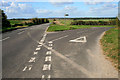 SU3337 : Road junction on Danebury Down by David Lally