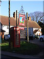 TM2677 : Telephone Box &amp; The Fox &amp; Goose Inn by Adrian Cable