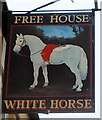 SO5412 : Pub sign, White Horse Inn, Staunton by John Grayson
