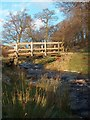 SK2680 : Wooden footbridge over Burbage Brook by Neil Theasby
