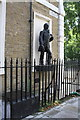 TQ2982 : Benchmark near statue on Fitzroy Square by Roger Templeman