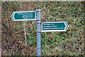 NT2661 : Signpost, Dalkeith to Penicuik path and cycleway by Jim Barton