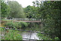 TQ6747 : Footbridge over the River Medway by N Chadwick
