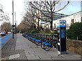 TQ2977 : Pimlico Bike Hire Station by David Anstiss