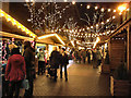 SJ8398 : Brazennose Street Christmas Market by David Dixon