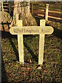 TM2778 : Whittingham Hall Sign by Adrian Cable