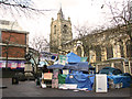 TG2208 : Occupy Norwich camp on Christmas Day by Evelyn Simak