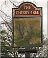 SJ9590 : Sign of the Cherry Tree by Gerald England