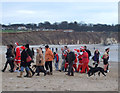 TA1967 : Santas and friends, Bridlington North Sands, Xmas Day 2011 by JThomas