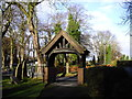 SJ5995 : Lych gate, St Peter's Church, Newton-le-Willows by John Lord