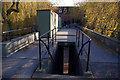 SP0483 : Footbridge over Ring Road North, University of Birmingham by Phil Champion