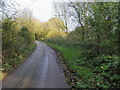 SP8322 : Road by footpath to Cublington by Shaun Ferguson