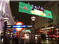 TQ2980 : London: Christmas lights above Regent Street by Chris Downer