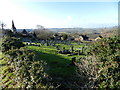 SK2464 : Graveyard, and church, Stanton in Peak by Peter Barr