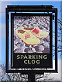SD7608 : The Sparking Clog (pub sign) by David Dixon