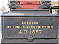 TQ2183 : Plaque on the Queen Victoria Jubilee (1887) Clock, Harlesden by Mike Quinn