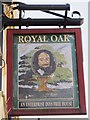 TQ2183 : Sign for The Royal Oak, High Street / Park Parade, NW10 by Mike Quinn