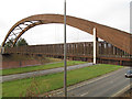 SJ9275 : Bridge over the A523 by Stephen Craven