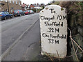 SJ9374 : Milestone to Sheffield by Stephen Craven