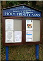 SO8707 : Notice board, Church of Holy Trinity, Slad by John Grayson