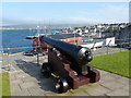 HU4741 : Lerwick: cannon overlooking the harbour by Chris Downer