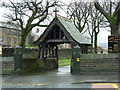 SD9602 : Mossley Parish Church of St George, Lych gate by Alexander P Kapp