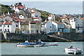 NZ7818 : Staithes from the eastern breakwater by Graham Horn