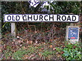 TM2851 : Old Church Road sign by Adrian Cable