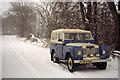 SD4896 : Snow covered lane near Ratherheath by Peter Bond