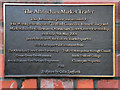 SJ7687 : The Altrincham Market Trader - Plaque by David Dixon