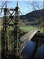 SH7956 : The suspension bridge at  Betws y Coed by Richard Hoare