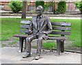 SJ8497 : Turing statue, Sackville Gardens, Manchester by Stephen Richards