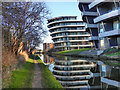SJ7689 : Bridgewater Canal - Budenberg HAUS Projekte Apartments by David Dixon
