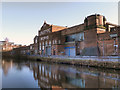 SJ7688 : The Linotype Works, Bridgewater Canal by David Dixon