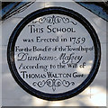 SJ7388 : Dunham School Plaque by David Dixon