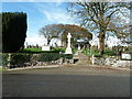 NX8654 : Colvend War Memorial and the entrance to the churchyard by Ann Cook