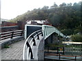 SO2100 : Railway footbridge, Llanhilleth by John Grayson