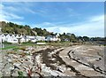NX8453 : Beach and houses at Rockcliffe by Ann Cook