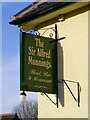 TM2782 : Sir Alfred Munnings Hotel sign by Adrian Cable