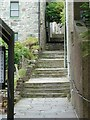 HU4741 : Hangcliff Lane formerly Steep Closs, Lerwick (Steps) by Rob Farrow