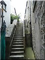 HU4741 : Steps, Gardie (formerly Gilbertson's) Court, Lerwick by Rob Farrow