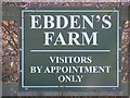 TM2675 : Ebden's Farm sign by Adrian Cable
