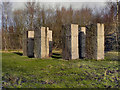 SD7705 : Ulrich Ruckriem Sculpture, Outwood Country Park by David Dixon