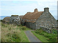 HU3914 : Shetland Crofthouse museum - croft, kiln and barn by Rob Farrow