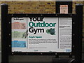 TQ3082 : Sign for Your Outdoor Gym, Argyle Square, WC1 by Mike Quinn