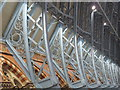 TQ3082 : St. Pancras Station, west side - roof detail by Mike Quinn