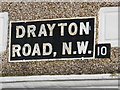 TQ2183 : Sign for Drayton Road, NW10 by Mike Quinn