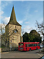 TQ4361 : 146 bus at Downe Church terminus by Robin Webster